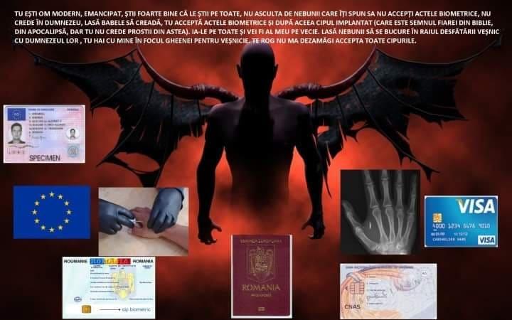 mesaj diavol biometrie